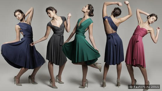 Традиционное платье-трансформер (выкройка конструируется по инструкции.