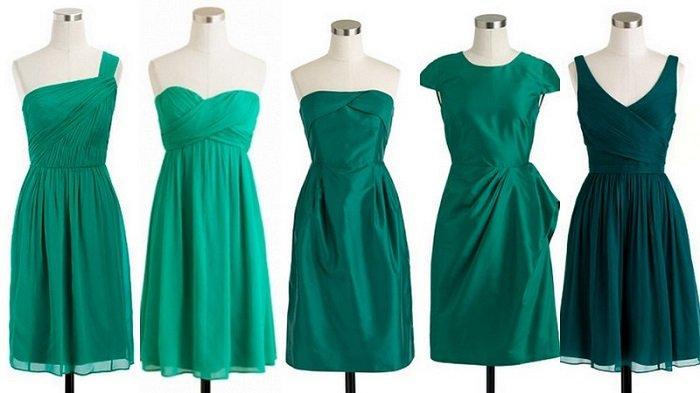 Оттенки зеленого платья