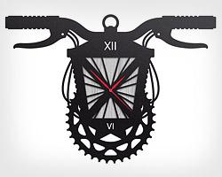 Настенные дизайнерские часы Bicyclamp Gear