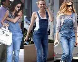 Звезды выбирают… джинсовые комбинезоны!