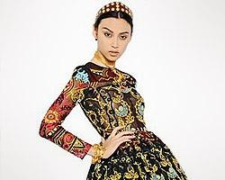 Платье от Valentino в фольклорном стиле