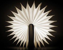 Лампа в форме книги – удобная вещь!
