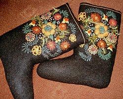 Авторские валенки ручной вышивки