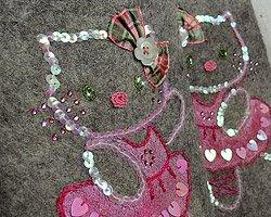 Дизайнерские валенки Hello Kitty