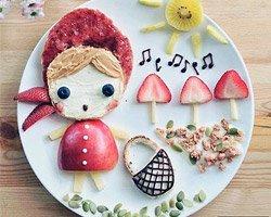 Необычные картины на детской тарелке