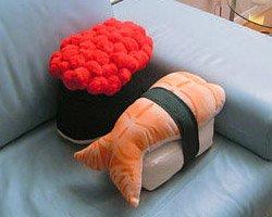 Подушки в виде суши на заказ