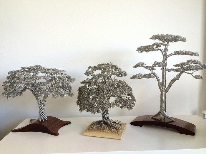 Скульптуры-деревья ручной работы из проволоки - уникальные handmade арт -объекты