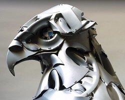 Удивительные скульптуры из автоколпаков