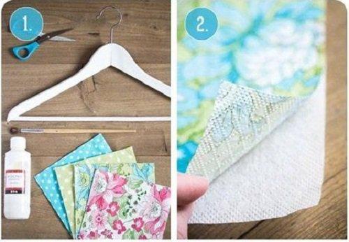Декупаж - творческие идеи для вашего дома. Декор вешалок для одежды