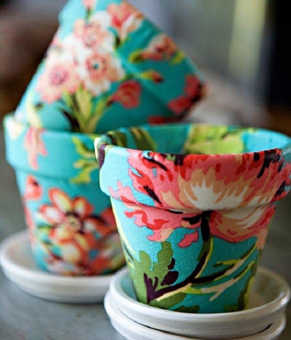 Декорирование горшков для цветов своими руками фото