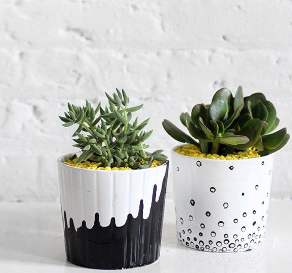 Стильный декор цветочных горшков своими руками - сделай сам handmade поделку с весенним настроением!