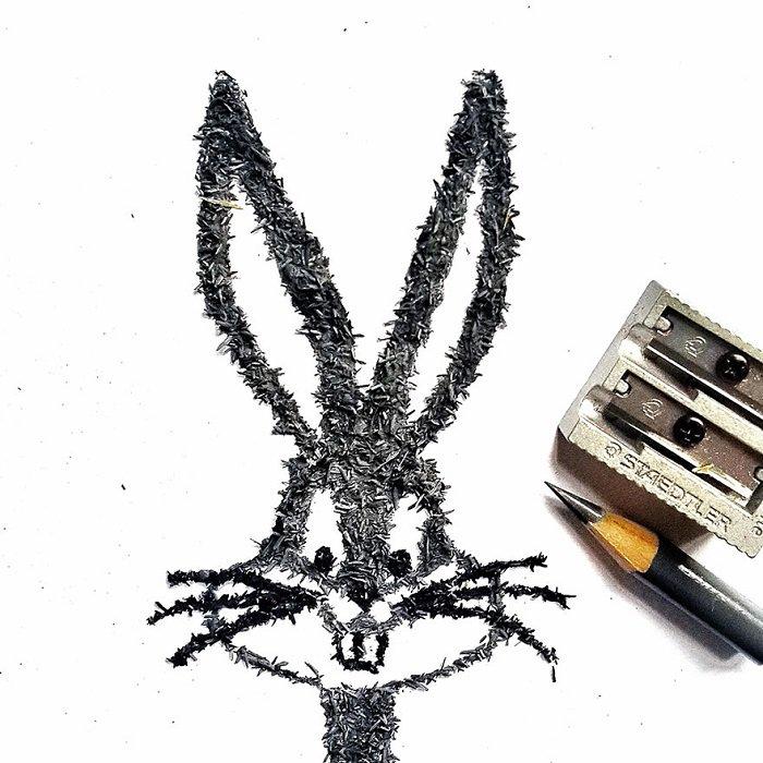 Хрупкие и прекрасные картины из грифельной стружки от карандашей