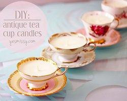 Романтичные handmade свечи в чайных чашках