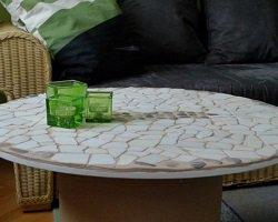 Handmade столик из катушки для кабеля