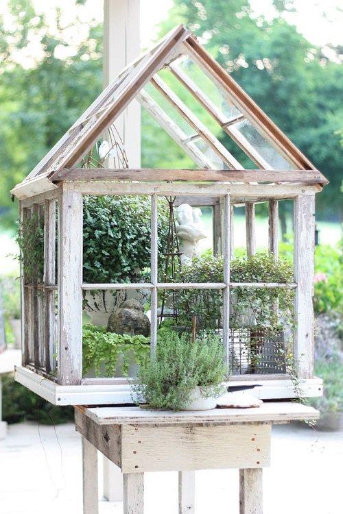 здесь сосредоточены старые оконные рамы в дизайне сада фото керлингистки, известные своей