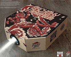 Проектор для смартфона в коробке от пиццы