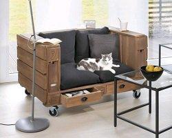 Мастер-класс: диван из деревянных паллет