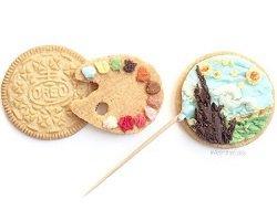 Вкусные рисунки на печенье by Tisha Cherry
