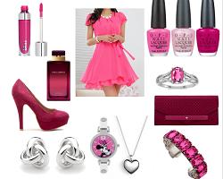 Модный сет для Дня святого Валентина -  этюд в розовых тонах