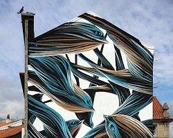 Природные линии в стрит-арте by Pantonio