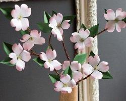 Весенние цветы из бумаги: мастер-класс