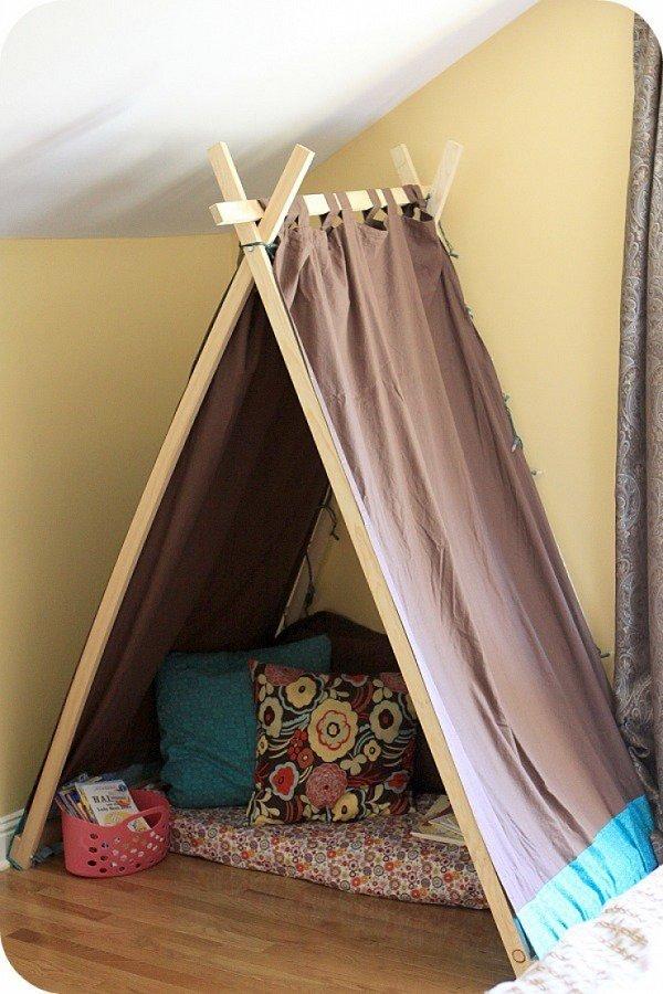 Как сделать палатку домик ребенку своими руками
