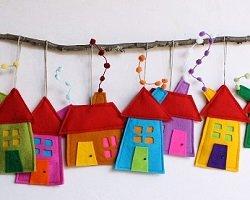Очаровательные handmade домики из фетра