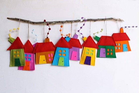 Декор из фетра для детской