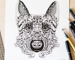 Графические изображения собак by Alex Konahin