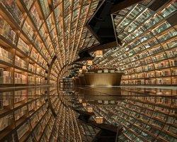 Дизайнерский интерьер библиотеки в Янчжоу