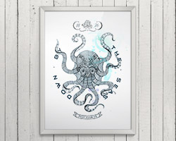 Постер Octopus A3