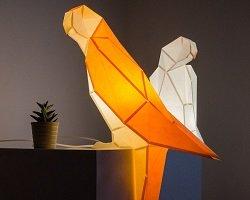 Бумажные лампы-оригами в форме животных