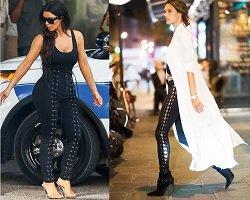 Fashion тренд - брюки со шнуровкой