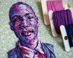 Вышитые портреты by Danielle Clough