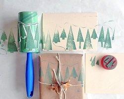 Новогодний декор упаковки своими руками