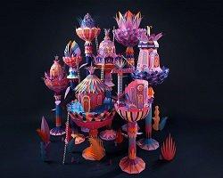 Дизайнерская инсталляция из бумаги для Hermes by Zim & Zou
