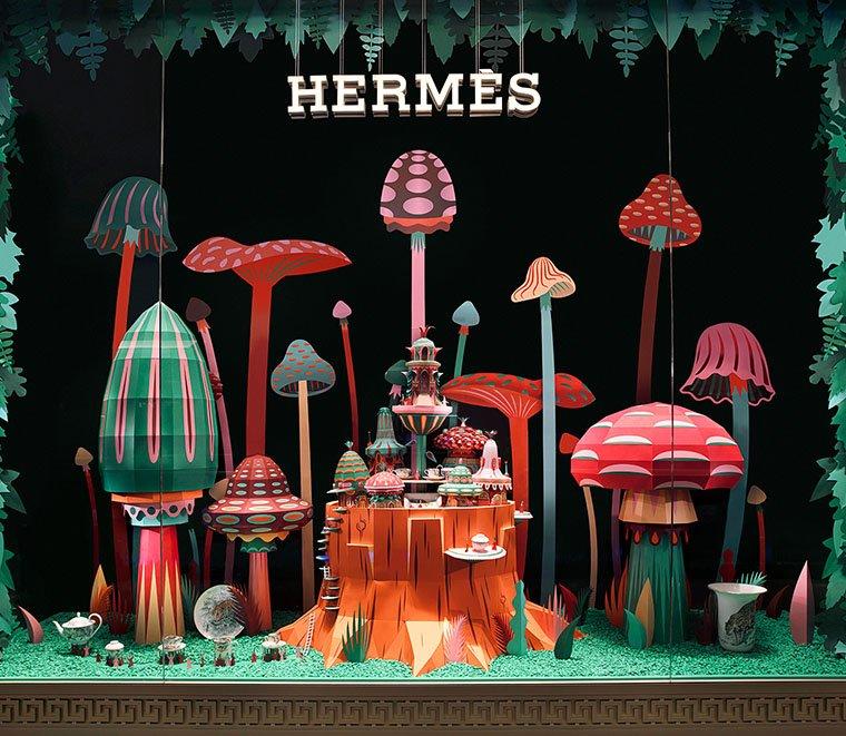 Оформление витрин магазина Hermes by ZimZou
