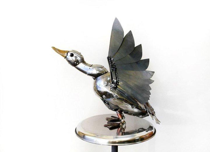 Скульптуры в стиле стимпанк от Игоря Верного