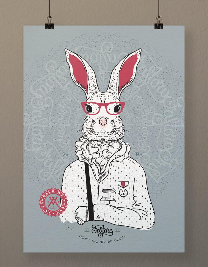Постер на стену Bucks Bunny blue