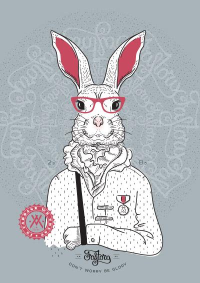 Постер Bucks Bunny blue
