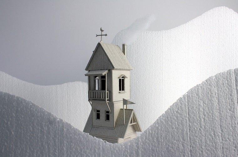 Миниатюрные скульптуры из бальзы by Vera van Wolferen