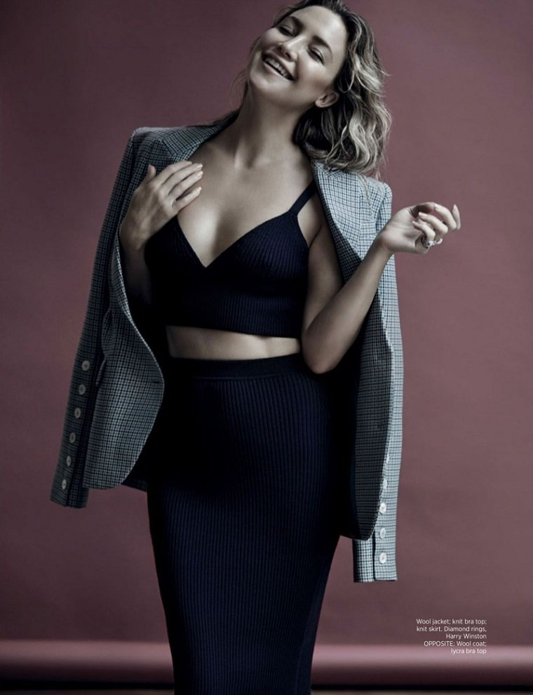 Кейт Хадсон на обложке Harpers Bazaar