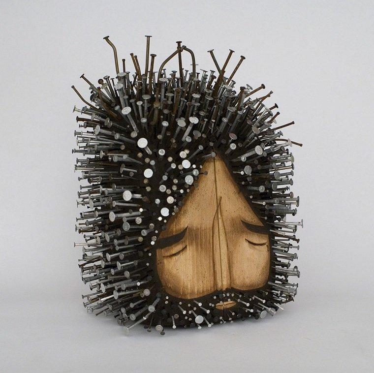 Скульптуры из дерева и гвоздей by Jaime Molina