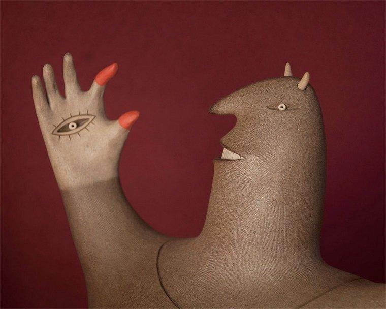 Забавные керамические фигурки by Luciano Polverigiani
