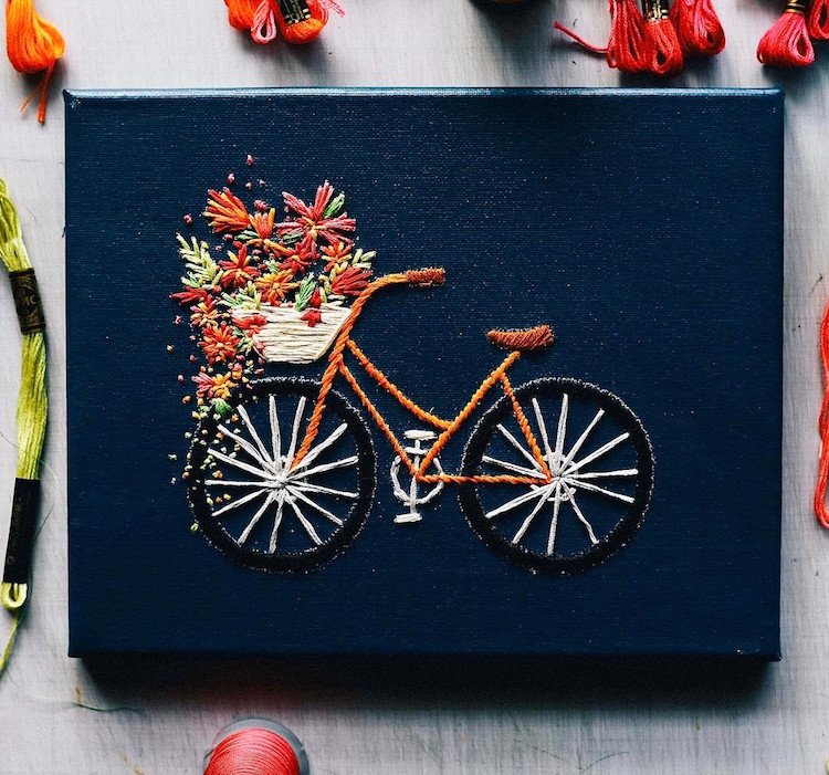 Вышивка в вело-стиле by Walker Boyes