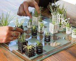 3D шахматы + горшки для цветов