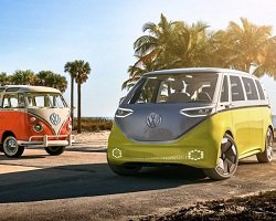 Микроавтобус ID Buzz от VW – новый дизайн легендарной модели