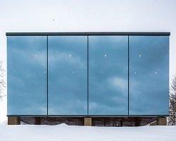 Домик для отдыха с панорамными окнами