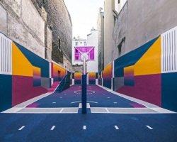 Дизайнерская баскетбольная площадка в Париже