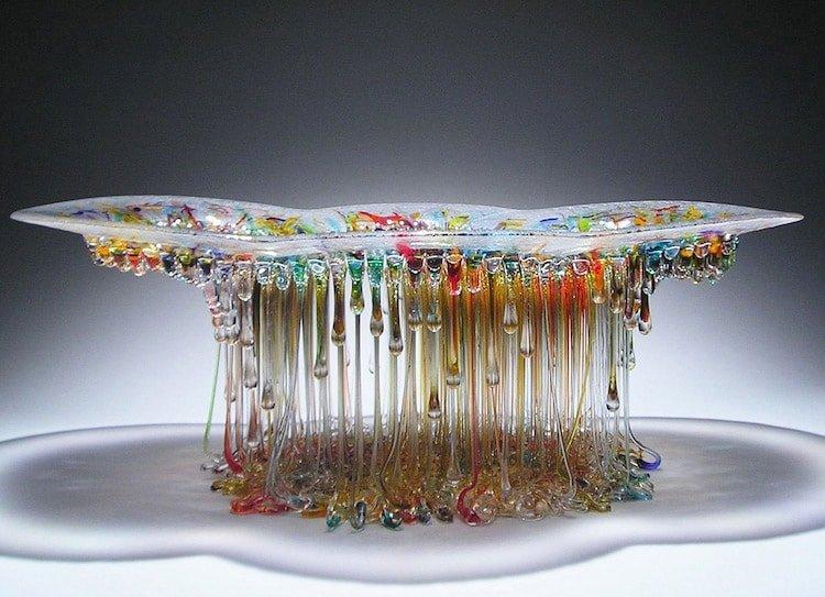 Стеклянные столы-медузы by Daniela Forti